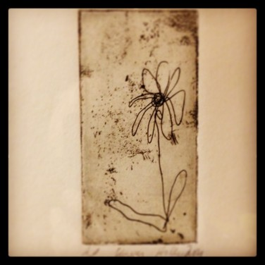 """Oh! Etching Image 1.5"""" x 3"""""""