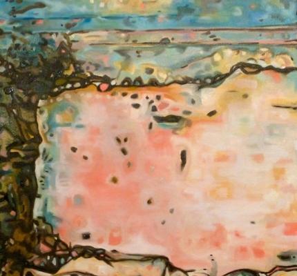 "Embracing the Maya, oil on cavas, 18"" x 18"" © 2011 Holly Troy"