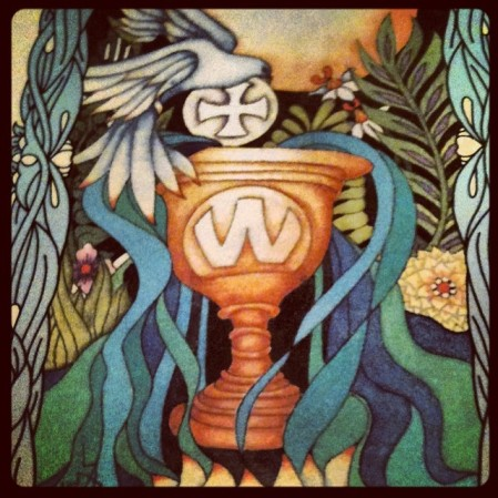 ace of cups Tarot of the Moon Garden Deck