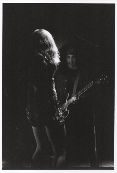 Performing with The Halfbreeds, 1996. Francis Didonato on guitar. Photo by George Tiboni.