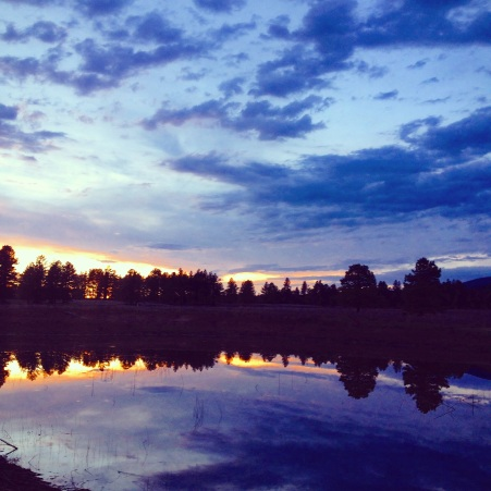 Sunset at Forbidden Meadow (c) 2015 Holly Troy