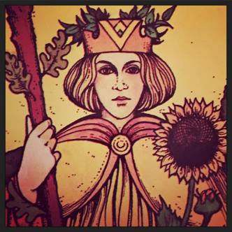 Queen of Rods - Solstice Message © 2017 Holly Troy