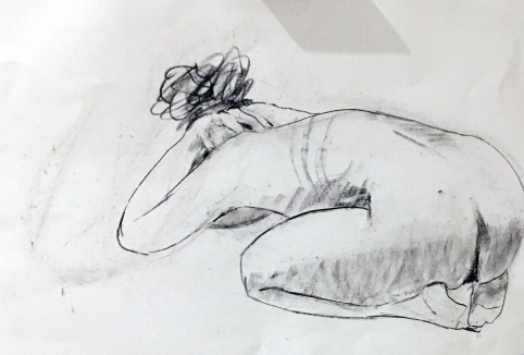 vulnerable - sketch of my on Easter Sunday 2019