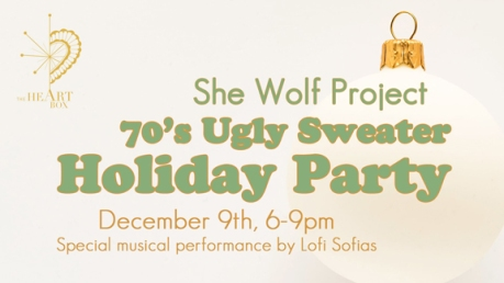 she wold 70s ugly sweater party with lofi sofias