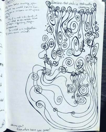 samsara doodle © Holly Troy 1990s