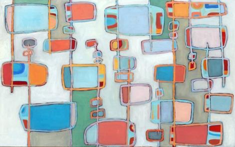 "Coney Island, 48"" x 30"", oil on canvas"