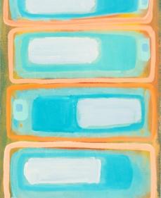 "Sky Pixel, 12"" x 30"", oil on canvas"