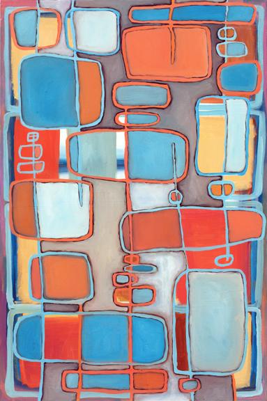 "Dream Yantra, 24"" x 36"", oil on canvas"