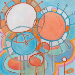 """Sky Touches Down, 40"""" x 40"""". oil on canvas"""