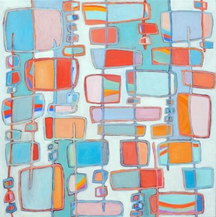 "Buddha Beach, 40"" x 40"", oil on canvas"