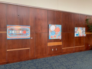 Paintings by Holly Troy: Where the Light Gets in, Sky Touches Down, Coney Island at HCCC