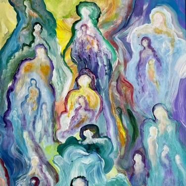 angels in the clouds - Paul Perreault - awfully good art colleciton