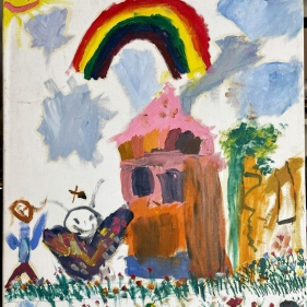 rainbows and butterflies - Paul Perreault - awfully good art colleciton